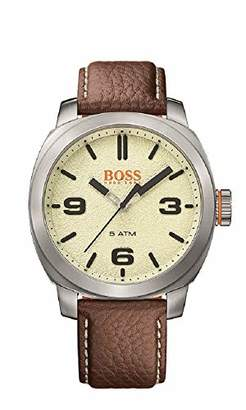 HUGO BOSS Men's 'Cape Town' Quartz Stainless Steel and Leather Casual Watch
