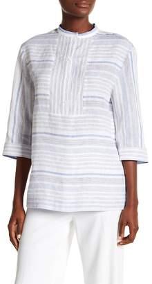 Lafayette 148 New York Cecilia Striped Linen Blouse
