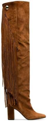 Chloé Brown Qaisha 90 Suede Thigh Boots