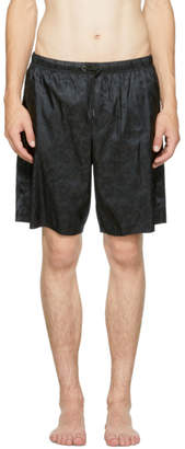 Versace Underwear Black Baroque Swim Shorts