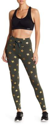 C&C California Metallic Star Drawstring Leggings