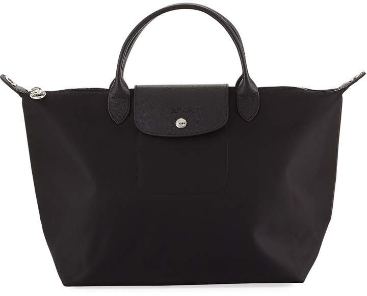 Longchamp Le Pliage Neo Medium Handbag with Strap - BLACK PATTERN - STYLE