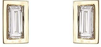 Finn Women's Baguette White Diamond Stud Earrings