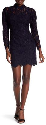 Betsey Johnson Scalloped Crochet Lace Sheath Dress