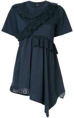 Goen.J paneled ruffle-trimmed blouse