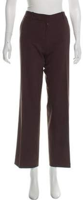 Loro Piana Wool Mid-Rise Pants Brown Wool Mid-Rise Pants