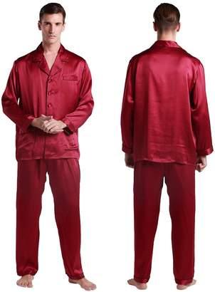 faf870f754 at Amazon Canada · Mulberry LilySilk Men s Silk Pajama Set Long Sleeves  100% Silk Sleepwear 2 Pcs XXL