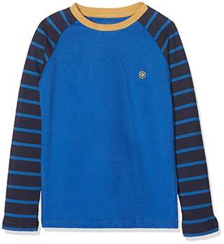 Fat Face Boy's Stripe Sleeve Ringer Raglan Long Top,Years (Size: 4-5)