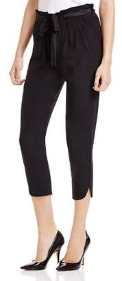 Ramy Brook Allyn Stretch Silk Cropped Pants