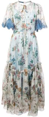 Dolce & Gabbana ruffled hem floral dress