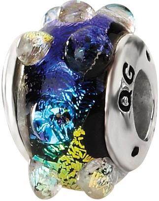 Prerogatives Sterling Rainbow Bubble Dichroic Glass Bead