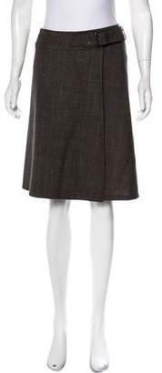 Neil Barrett Plaid Wool Skirt
