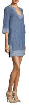 Trina Turk Carnelian Denim Shift Dress