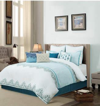 Welcome Industrial/universal Home Angela 10 Piece Comforter Set Queen
