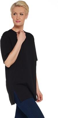 Denim & Co. Essentials Oversized V-Neck Top w/ Princess Seams