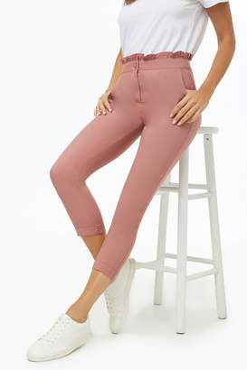 Forever 21 High-Waist Ruffle Trim Pants