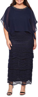 MAYA BROOKE Maya Brooke Sleeveless Evening Gown-Plus