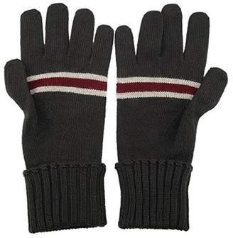 Gucci Unisex Wool Gloves with Burgundy Beige Web 294732 1163