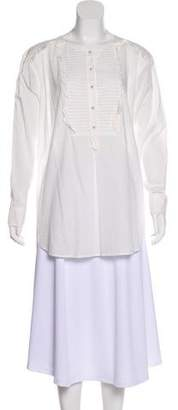 Rebecca Taylor Ruffle-Accented Button-Up Tunic