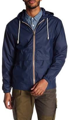 Weatherproof Hooded Rain Slicker Jacket