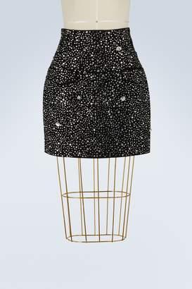 Balmain Rhinestone mini skirt