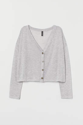 H&M Loose-knit Cardigan - Gray