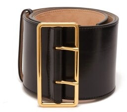 Alexander McQueen Wide Leather Belt - Womens - Black