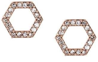 Astley Clarke 'Honeycomb' diamond stud earrings