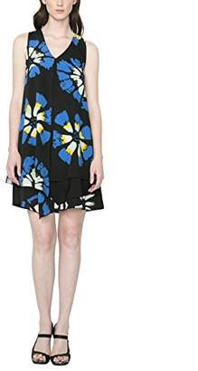 Desigual Women's A-Line Printed Sleeveless Dress - Blue