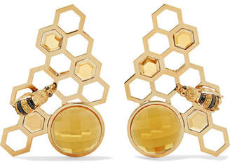 Delfina Delettrez 9-karat Gold Multi-stone Earrings
