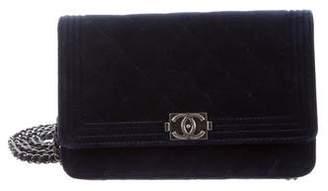Chanel Velvet Boy Wallet On Chain