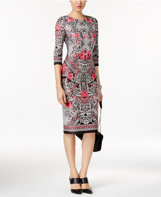 ECI Printed Sheath Dress $70 thestylecure.com