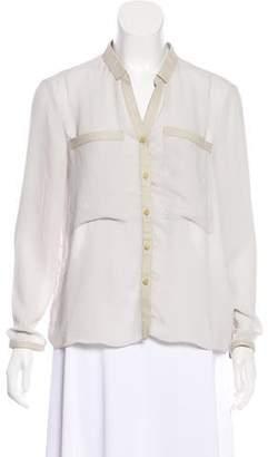 Helmut Lang Semi-Sheer Long Sleeve Blouse