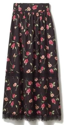 DRWCYS (ドロシーズ) - ドロシーズ 花柄レーストリムマキシスカート