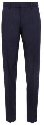 BOSS Hugo Slim-fit pants in virgin wool 30R Dark Blue