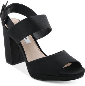 Nina Athena Slingback Block Heel Platform Evening Sandals $85 thestylecure.com