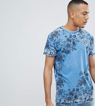 Jacamo TALL T-Shirt With Floral And Chest Print