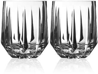 Vera Wang Wedgwood Peplum Set of 2 Double Old Fashioned Glasses