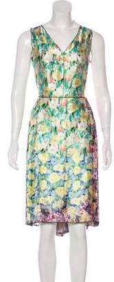 Nina Ricci Silk Printed Midi Dress