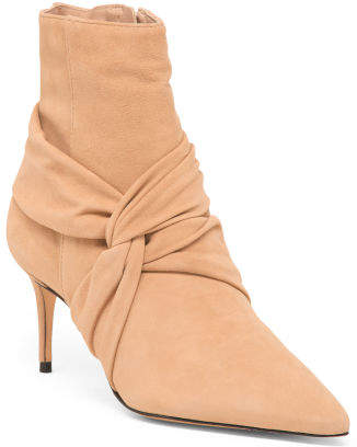 Made In Brazil Pointy Toe Suede Ankle Booties