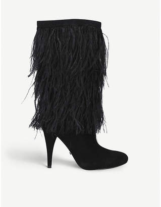MICHAEL Michael Kors Asha feathered suede boots