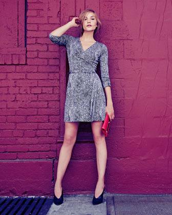 Diane von Furstenberg New Julian Two Mini Dress, Tiger Rain