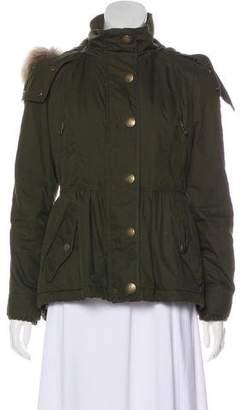 Burberry Fur-Trimmed Hooded Jacket