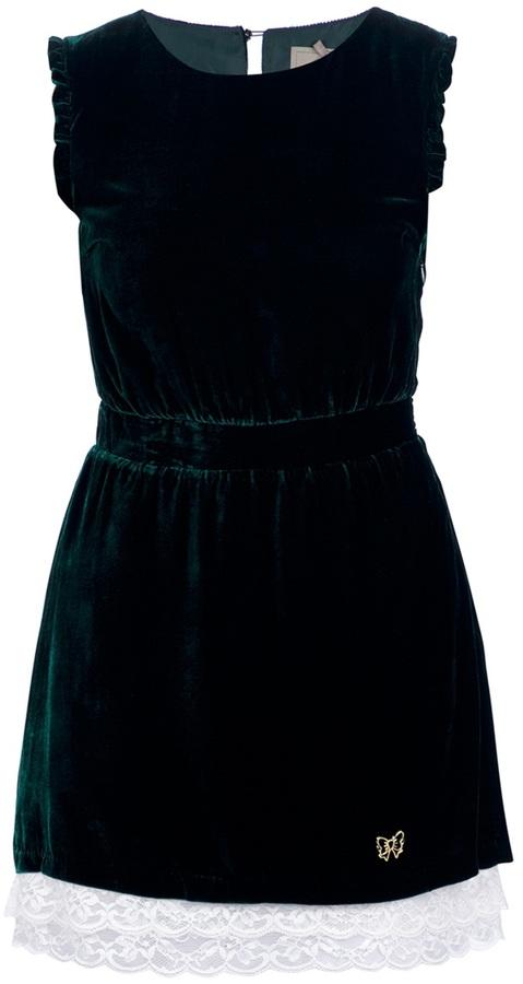 Fix Design Sleeveless velvet dress