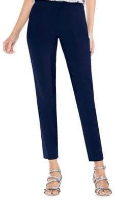 Vince Camuto Double-Weave Side Zip Skinny Pants