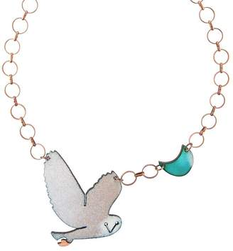 SABA Jewellery The Owl And The Moon Necklace