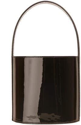 Staud Bissett Patent Leather Top-Handle Bucket Bag - Black