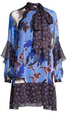Diane von Furstenberg Effie Floral Silk Shift Dress