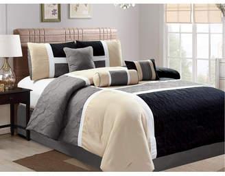 Luxlen Scribner 7 Piece Comforter Set, King Bedding