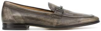 Tod's distressed Double T loafers